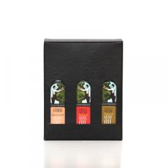 Giftbox holds a Selection of three 100ml bottles of Leafyridge Oil image